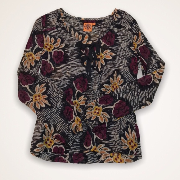 TORY BURCH Silk Floral Blouse